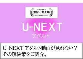 U-NEXT アダルト動画が見れない?その解決策をご紹介。